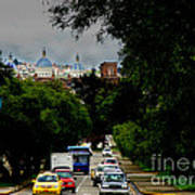 Beauty Of Avenida Solano In Cuenca Art Print