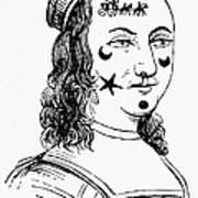 Beauty Spots, 17th Century Art Print