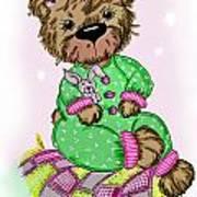Becky Bear Art Print