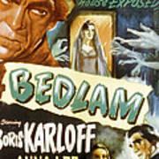 Bedlam, Boris Karloff, Anna Lee, 1946 Print by Everett