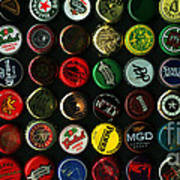 Beer Bottle Caps . 2 To 1 Proportion Art Print by Wingsdomain Art and Photography