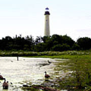 Behind The Cape May Lighthouse Art Print by Bill Cannon