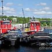 Belfast Tugboats Art Print