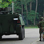 Belgian Infantry Soldiers Walk Art Print