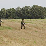 Belgian Paratroopers Proceeding Art Print