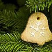 Bell Shape Short Bread Cookie Art Print