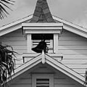 Bell Tower In Black And White Art Print