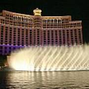 Bellagio Fountains 4 Art Print by Charles Warren