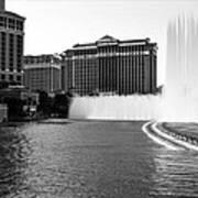 Bellagio Fountains Art Print