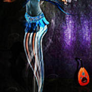 Belly Dance Genie Art Print by Vidka Art