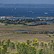 Bembridge Harbour And The Solent Art Print