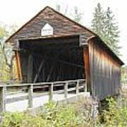 Bement Covered Bridge Art Print