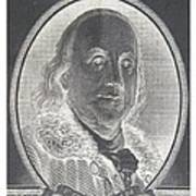 Ben Franklin In Negative Art Print