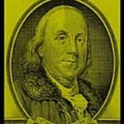 Ben Franklin In Yellow Art Print