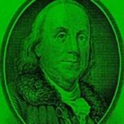 Ben Franklin Ingreen Art Print