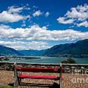 Bench With Panorama View Art Print
