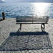 Bench With Shadow Art Print