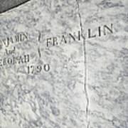 Benjamin Franklin's Grave Art Print by Snapshot Studio