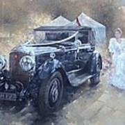 Bentley And Bride  Art Print