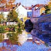 Beside The River - Grez Art Print