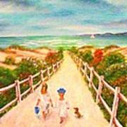 Beth And Johnny At The Beach Art Print