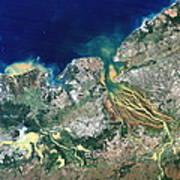 Betsiboka Estuary, Madagascar Art Print