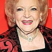 Betty White At Arrivals For Time 100 Print by Everett