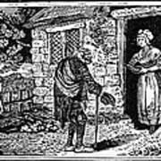 Bewick: Beggar Art Print