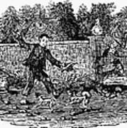 Bewick: Boy With Dogs Art Print