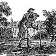 Bewick: Man Carrying Man Art Print by Granger