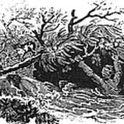Bewick: Man Drowning Art Print