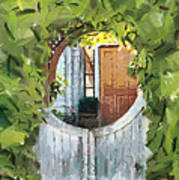 Beyond The Gate - A Scene From Mackinac Island Michigan Art Print