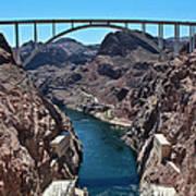 Beyond The Hoover Dam Spillway Art Print
