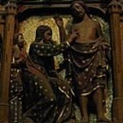 Biblical Scene At Notre Dame Paris Art Print
