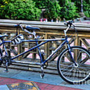 Bicycle Built For Two Art Print