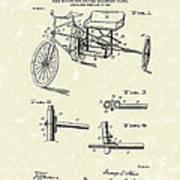 Bicycle Extension Frame 1903 Patent Art Art Print