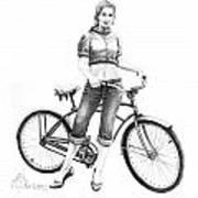 Bicycle Girl Art Print