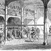 Bicycle Tournament, 1869 Art Print