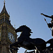 Big Ben And Boadicea Statue  Art Print