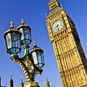Big Ben And Palace Of Westminster Art Print by Elena Elisseeva