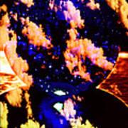 Big Blue Globe Thingee Art Print