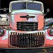Big Chevy Rig Art Print