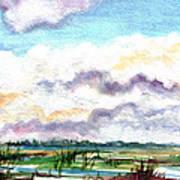 Big Clouds Art Print