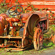 Big Red Tractor Art Print
