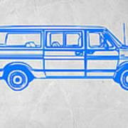 Big Van Art Print by Naxart Studio