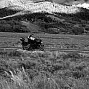 Bike Run Through Yellowstone Art Print