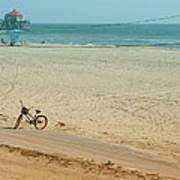 Biked To The Beach Art Print