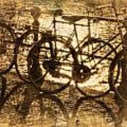 Bikes On The Canal Art Print by Skip Nall