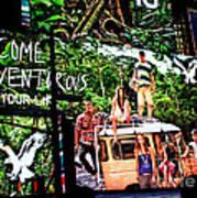Billboards In Times Square Art Print