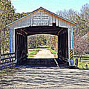 Billie Creek Village Covered Bridge Art Print